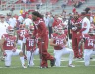 Hogs' receivers coach tired of visiting hospital