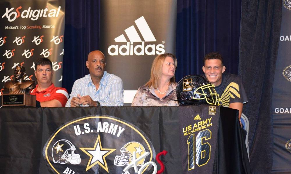 Feleipe Franks celebrated his selection to the U.S. Army All-American Bowl alongside his parents, including his Master Sargeant father (Photo: Facebook)