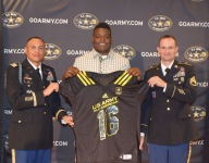 Army All-American John Simpson adding to his honors, saluting cousins in military