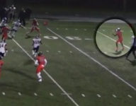 VIDEO: Maryland's Oakland Mills scores wild TD on desperation lateral out of botched screen play