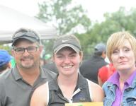 Father, daughter share trip to state