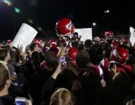 Fishers fans and team celebrate victory