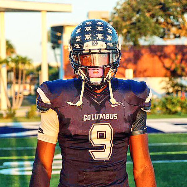 Columbus defensive end Josh Uche decommitted from Miami two weeks after coach Al Golden's departure (Photo: Twitter)