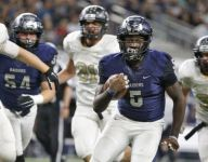 Wylie East (Texas) throws two passes in game, both by star running back