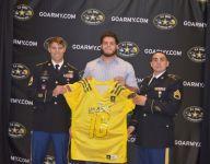 Hamilton (Ariz.) defensive lineman Garrett Rand receives U.S. Army All-American Bowl jersey