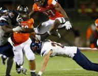 VIDEO: Rockwall's Caleb Broach leaps 2 defenders in stunning 60-yard run