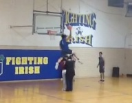VIDEO: Watch top MSU hoops recruit Miles Bridges dunk over his mom and sister at Huntington Prep scrimmage