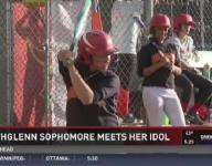Northglenn sophomore meets her idol