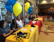 Four Aztec student-athletes sign letters of intent