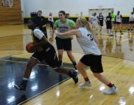 Watkins Memorial girls basketball hitting court running