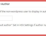 Using the Custom Display Author field