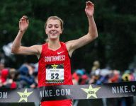 Air Academy (Colo.) cross country star Katie Rainsberger finishes with a perfect season