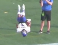 VIDEO: Florida RB Jalin Buie hits a perfect front flip after title game TD run
