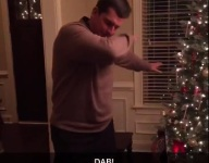 VIDEO: Jim Harbaugh dabs on it while visiting top FB Kingston Davis