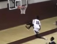 Harvard bound hoops star Robert Baker went between legs on an in-game dunk