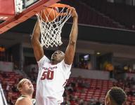 Hogs' Kouassi stepping up in Thompson's absence