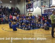 Wynford First Graders sing National Anthem/Intro Players