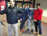 Michigan's Jim Harbaugh finds another way to bend NCAA rules, takes photo NEAR HS juniors