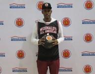 Dewan Huell celebrates getting his McDonald's All American jersey