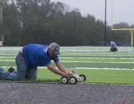 UWF's AstroTurf practice field nearing completion