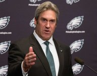 Eagles coach Doug Pederson watches high school baseball hours after NFL Draft
