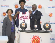 Andrew Jones receives McDonald's All American jersey capping off a dominant month