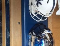 Class of 2018 recruit Malik Vann may have been first to expose Kentucky's new chrome helmets during visit