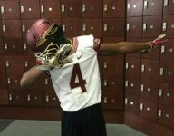 James Cook, younger brother of FSU star Dalvin Cook, dabs in bro's jersey at FSU junior day