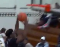 VIDEO: Lincoln (N.Y.) junior Kclejuan Brown switches hands in midair on layup