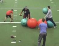 VIDEO: Watch 2017 QB prospect Jay Urich dodge huge medicine balls in cool training drill