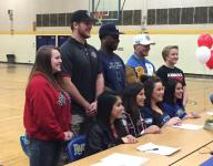 Nine athletes from Reed sign letters of intent