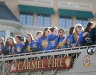 Carmel girls swim team honored with parade