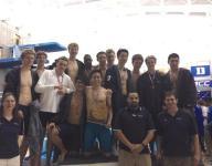 Blues swim teams take second, third at state meet