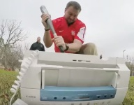"""VIDEO: Tom Herman and his Houston staff perfectly spoof Office Space's famous """"Printer Scene"""""""