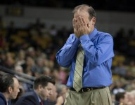George Washington basketball coach Mike Lonergan got kicked out of his daughters JV prep game