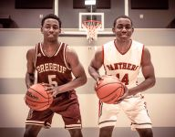 Identical twin brothers on opposing teams in Indiana basketball playoffs