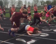 VIDEO: Wisconsin freshman track athlete's face plant continues to go viral