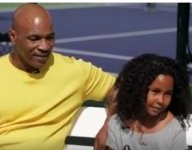Mike Tyson's 7-year-old daughter wants to win all the tennis titles