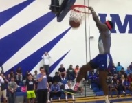 VIDEO: LSU football commit Drake Davis is apparently a top-class dunker to boot