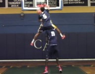 VIDEO: Cheshire Academy star dunks on 7-foot-3 teammate in High School Slam audition tape