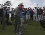 VIDEO: An 11-year-old showed up Tiger Woods on his own course with a hole-in-one, better round