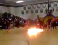 Man on fire: A Florida high pep rally goes horribly wrong