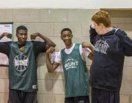 Basketball team, autistic teen learn from each other