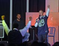 Baldwin shares his faith to packed congregation at Gulf Breeze church