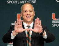 Miami coach Mark Richt checks out four Hurricanes defensive back commits in same game