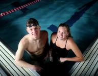Boys swimming: Tyler Hill shares many bonds with teammate Hadley