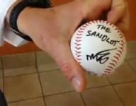 'Sandlot' writer surprises baseball team