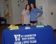 Washington's Ferrara, Luth, fulfill college swim quests