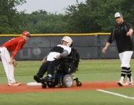VIDEO: Baseball team manager pinch runs, scores from first in a wheelchair