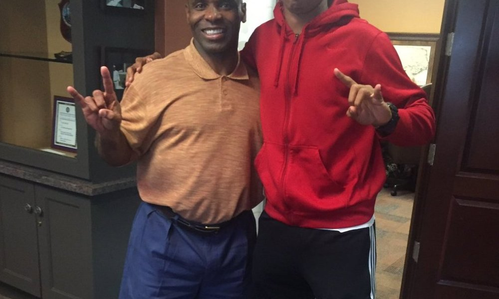 Mannie Netherly visited Texas a week after decommitting from Texas A&M (Photo: Twitter)